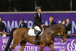 BRASH Scott (GBR), Hello Senator<br /> Doha - CHI Al SHAQAB 2020<br /> - Stechen -<br /> Commercial Bank CHI Al Shaqab Grand Prix presented by LONGINES<br /> Int. jumping competition over two rounds and jump-off (1.60 m)<br /> 29. Februar 2020<br /> © www.sportfotos-lafrentz.de/Stefan Lafrentz