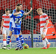 Ian Henderson 2nd Goal during the Sky Bet League 1 match between Doncaster Rovers and Rochdale at the Keepmoat Stadium, Doncaster, England on 21 November 2015. Photo by Daniel Youngs.