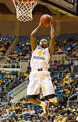 Nov 13, 2015; Morgantown, WV, USA; West Virginia Mountaineers guard Daxter Miles Jr. shoots during the first half against the Northern Kentucky Norse at WVU Coliseum. Mandatory Credit: Ben Queen-USA TODAY Sports
