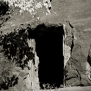 Remnants of a building built into rock - Oak Creek Canyon, AZ