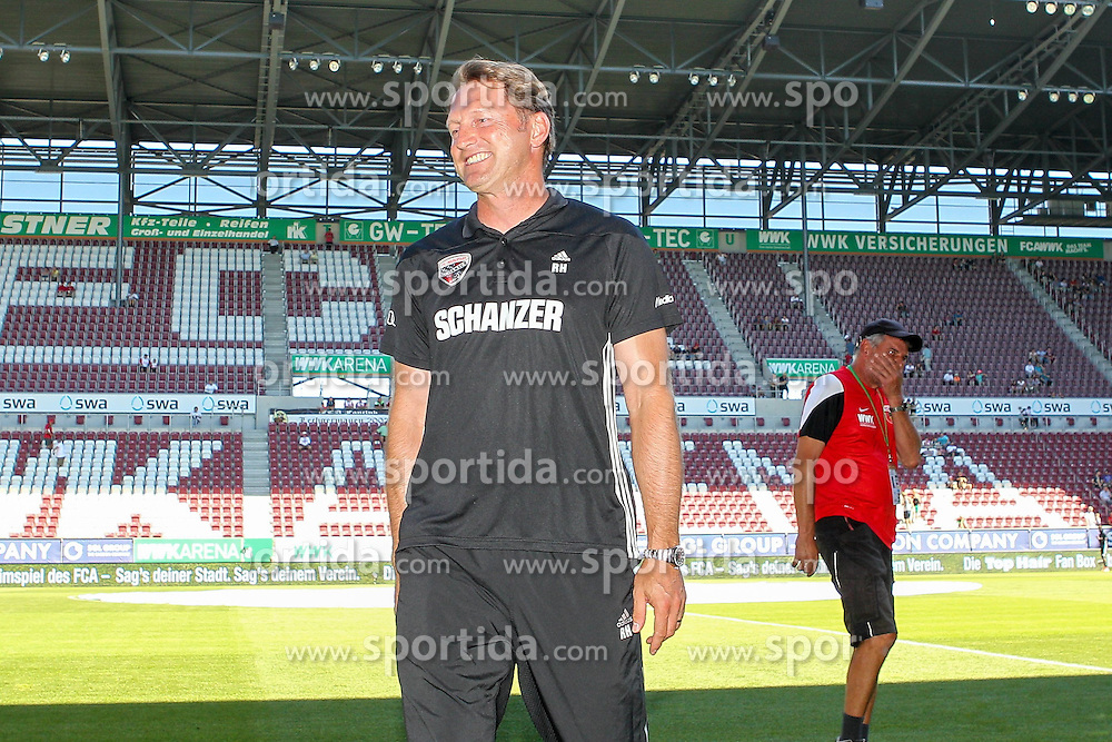 29.08.2015, WWK Arena, Augsburg, GER, 1. FBL, FC Augsburg vs FC Ingolstadt 04, 3. Runde, im Bild gut gelaunter Chef-Trainer Ralph Hasenhuettl (FC Ingolstadt 04) // during the German Bundesliga 3rd round match between FC Augsburg and FC Ingolstadt 04 at the WWK Arena in Augsburg, Germany on 2015/08/29. EXPA Pictures &copy; 2015, PhotoCredit: EXPA/ Eibner-Pressefoto/ Kolbert<br /> <br /> *****ATTENTION - OUT of GER*****