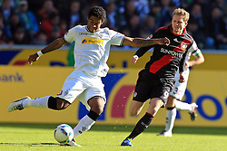 15.10.2011,  BorussiaPark, Mönchengladbach, GER, 1.FBL, Borussia Mönchengladbach vs Bayer 04 Leverkusen, im Bild.Dante (Mönchengladbach #31) (L) gegen Andre Schürrle (Leverkusen #9)..// during the 1.FBL, Borussia Mönchengladbach vs Bayer 04 Leverkusen on 2011/10/13, BorussiaPark, Mönchengladbach, Germany. EXPA Pictures © 2011, PhotoCredit: EXPA/ nph/  Mueller *** Local Caption ***       ****** out of GER / CRO  / BEL ******
