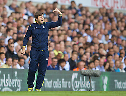 LONDON, ENGLAND - Sunday, August 31, 2014: Tottenham Hotspur's manager Mauricio Pochettino during the Premier League match against Liverpool at White Hart Lane. (Pic by David Rawcliffe/Propaganda)