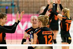 26-10-2019 NED: Dros Alterno - Set Up 65, Apeldoorn<br /> Round 4 of Eredivisie volleyball - Evie van Kerkvoorde #15 of Set Up