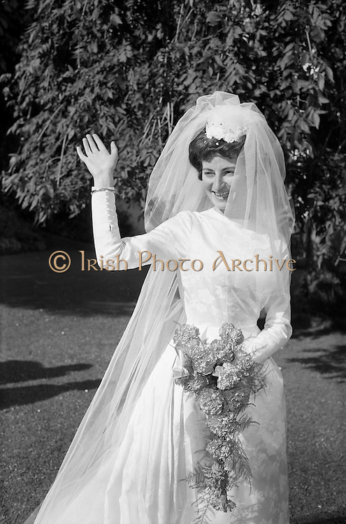 05/09/1962<br /> 09/05/1962<br /> 05 September 1962<br /> Wedding of Fergus Keogh of &quot;Eagleville&quot;, Strandville Avenue, Clontarf, Dublin to Miss Miriam Caffrey, Church Avenue, Drumcondra Dublin at the Church of the Visitation of the BVM, Fairview with reception at St. Lawrence Hotel, Howth. Mr. keogh was full-back for Bective Rangers at the time. The bride in the hotel grounds.