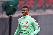 Nani during the Portugal training session at Wembley Stadium, London, England on 1 June 2016. Photo by Jon Bromley.