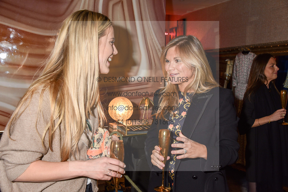 Left to right, Tabitha Willett and Lucia Dailey at the Seren London Launch Party held at Baar And Bass, 336 Kings Road, London England. 26 April 2017.