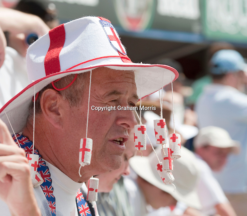 A visiting supporter during the third Ashes test match between Australia and England at the WACA (West Australian Cricket Association) ground in Perth, Australia. Photo: Graham Morris (Tel: +44(0)20 8969 4192 Email: sales@cricketpix.com) 17/12/10