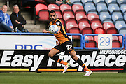 Hull City midfielder Ahmed Elmohamady (27)  during the Sky Bet Championship match between Huddersfield Town and Hull City at the John Smiths Stadium, Huddersfield, England on 9 April 2016. Photo by Simon Davies.