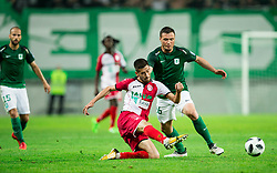 Leon Benko of NK Olimpija vs Mario Jurcevic of NK Aluminij during football match between NK Aluminij and NK Olimpija Ljubljana in the Final of Slovenian Football Cup 2017/18, on May 30, 2018 in SRC Stozice, Ljubljana, Slovenia. Photo by Vid Ponikvar / Sportida
