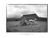 Saving hay at the foot of Ben Bulben, County Sligo.<br />