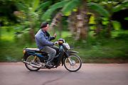 The morning commute, Nakhon Nayok, Thailand