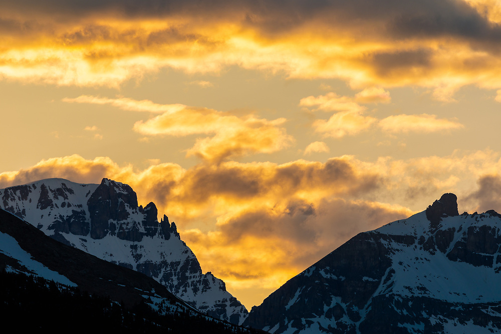 Mt Diadem at sunset, Columbia Icefields, Alberta, Canada