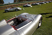 Image of vintage cars at the Porsche Race Car Classic, Quail Lodge, Carmel, California, America west coast.