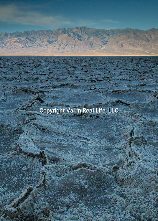 Shadow and light in Badwater Basin