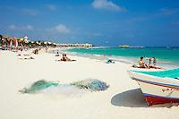 Mexique, Etat du Quintana Roo, plage de Playa del Carmen // Mexico, Quintana Roo State, Playa del Carmen beach