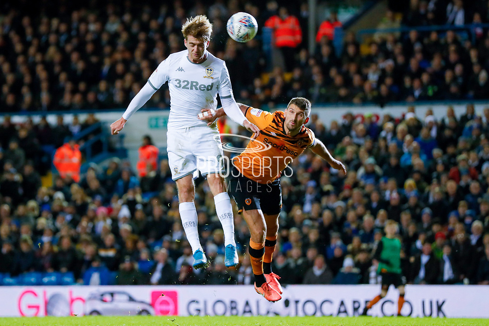 Leeds United forward Patrick Bamford (9) Leeds United forward Patrick Bamford (9)  during the EFL Sky Bet Championship match between Leeds United and Hull City at Elland Road, Leeds, England on 10 December 2019.