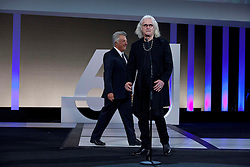 Actor (R to L) Billy Connolly and Dustin Hoffman during the Sebastian Film Festival, September 29, 2012. Photo By Nacho Lopez / DyD Fotografos / i-Images..SPAIN OUT
