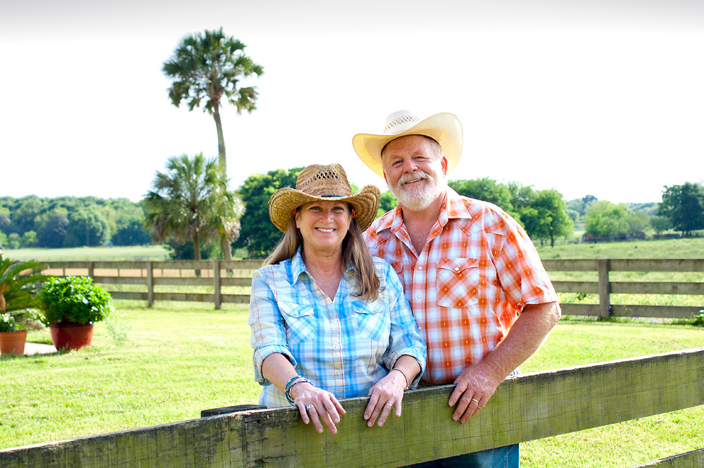 Sandra & Dan Marvel, owners of Marvel Farms in High Springs, FL