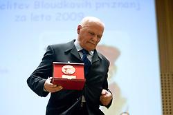Journalist Joze Pogacnik at 45th Awards of Stanko Bloudek for sports achievements in Slovenia in year 2009, on February 9, 2010, Brdo pri Kranju, Slovenia.  (Photo by Vid Ponikvar / Sportida)