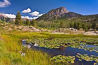 Scout Lake below 11,871 ft. Potato Hill.  San Juan Mountains, Colorado,