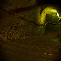 A cold tunnel in a castle
