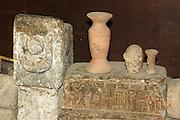 Ethiopia, Tigray Region, Yeha, The ruin of the temple at Yeha