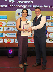 Mayo Business Awards, Best Technology Business Award Sponsored by CloudStrong was won by Payslip Westport, Oliver Surdival from CloudStrong<br />