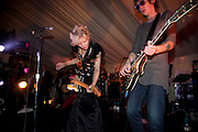 COURTNEY LOVE, The Goodwood Ball. In aid of Gt. Ormond St. hospital. Goodwood House. 27 July 2011. <br /> <br />  , -DO NOT ARCHIVE-© Copyright Photograph by Dafydd Jones. 248 Clapham Rd. London SW9 0PZ. Tel 0207 820 0771. www.dafjones.com.