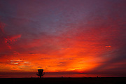 Red Skies at the Beach at Trestles in San Clemente California
