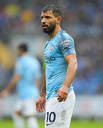 September 22, 2018 - Cardiff City, England, United Kingdom - Sergio Aguero of Manchester City during the Premier League match between Cardiff City and Manchester City at Cardiff City Stadium,  Cardiff, England on 22 Sept 2018. (Credit Image: © Action Foto Sport/NurPhoto/ZUMA Press)
