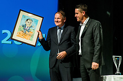 Marko Umberger and Gregor Krusic during Slovenian Tennis personality of the year 2017 annual awards presented by Slovene Tennis Association Tenis Slovenija, on November 29, 2017 in Siti Teater, Ljubljana, Slovenia. Photo by Vid Ponikvar / Sportida