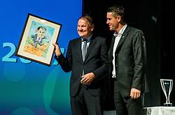 Marko Umberger and Gregor Krusic during Slovenian Tennis personality of the year 2017 annual awards presented by Slovene Tennis Association Tenis Slovenija, on November 29, 2017 in Siti Teater, Ljubljana, Slovenia. Photo by Vid Ponikvar / Sportida