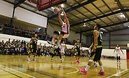 13/09/2016 Adelaide 36ers v Shandong Golden Stars at Waikerie. Adelaide 36ers Matt Hodgson dunks the ball.