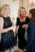 IMOGEN EDWARDS-JONES; KIRSTY YOUNG; CLAUDIA WINKLEMAN, Imogen Edwards-Jones - book launch party for ' Hospital Confidential' Mandarin Oriental Hyde Park, 66 Knightsbridge, London, 11 May 2011. <br />  <br /> -DO NOT ARCHIVE-© Copyright Photograph by Dafydd Jones. 248 Clapham Rd. London SW9 0PZ. Tel 0207 820 0771. www.dafjones.com.