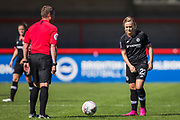 Erin Cuthbert (Chelsea) in action during the FA Women's Super League match between Brighton and Hove Albion Women and Chelsea at The People's Pension Stadium, Crawley, England on 15 September 2019.