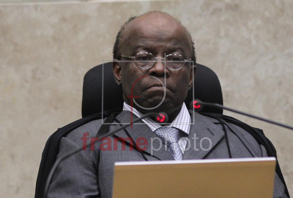 Brasilia, 13/11/2013. Ministro Joaquim Barbosa , Presidente do STF preside sessao do julgamento do caso do mensalao. Foto: Joel Rodrigues/FRAME
