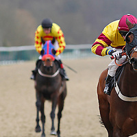 Officer In Command and William Carson winning the 3.05 race
