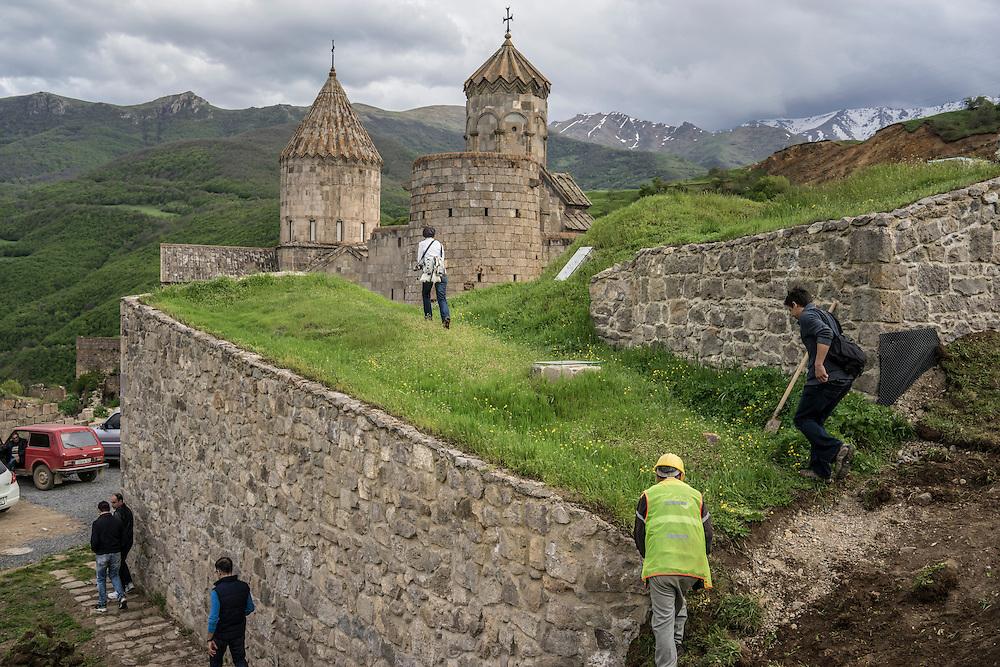 The Tatev Monastery on Saturday, May 7, 2016 in Tatev, Armenia.