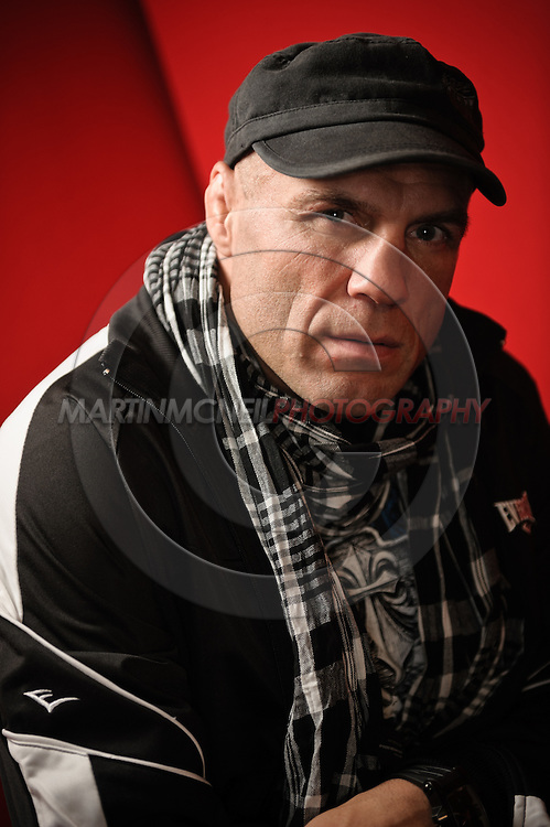 """A portrait of mixed martial arts athlete, NCAA All-American wrestler and actor Randy """"The Natural"""" Couture"""