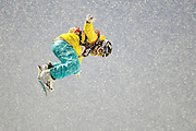 Hannah Teter competes in the U.S. Snowboarding Grand Prix finals, Friday, Jan. 22, 2010, in Park City, Utah. (AP Photo/Colin E Braley).