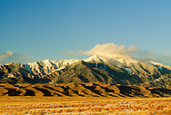 Great Sand Dunes National Park, Sangre de Cristo Mountains, San Luis Valley, Colorado, the tallest sand dunes in North America