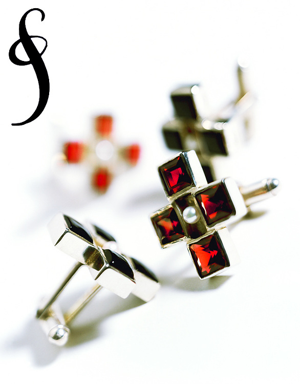 Men's cufflinks by jewelry designer Suzanne Felsen.
