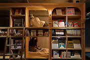Bookstore-Themed  Hotel Has 5000 Books And Sleeping Shelves Next To Them<br />