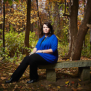 Nicole Hockley at a park near Sandy Hook Promise, a nonprofit that she started when she lost her son in the Sandy Hook shooting, Newtown, Connecticut, Oct. 20, 2016.<br /> Yvonne Albinowski/For New York Observer