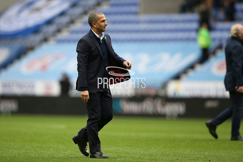 Nottingham Forest Manager Sabri Lamouchi  during the EFL Sky Bet Championship match between Wigan Athletic and Nottingham Forest at the DW Stadium, Wigan, England on 20 October 2019.