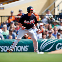 Feb 27, 2013; Lakeland, FL, USA; Atlanta Braves outfielder Joey Terdoslavich (73) against the Detroit Tigers during the a spring training game at Joker Marchant Stadium. Mandatory Credit: Derick E. Hingle-USA TODAY Sports