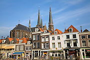 Historic buildings from the market square, Delft, Netherlands