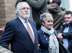 Dave Lee Travis departs court this afternoon alongside his wife, following been found not guilty. Southwark Crown Court, London, United Kingdom. Thursday, 13th February 2014. Picture by i-Images