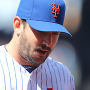 Pitcher Matt Harvey, New York Mets,  pitching during the New York Mets Vs Miami Marlins MLB regular season baseball game at Citi Field, Queens, New York. USA. 19th April 2015. Photo Tim Clayton
